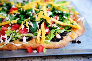 "Homemade ""CPK"" Tostada Pizza Photo Credit: The Pioneer Woman"